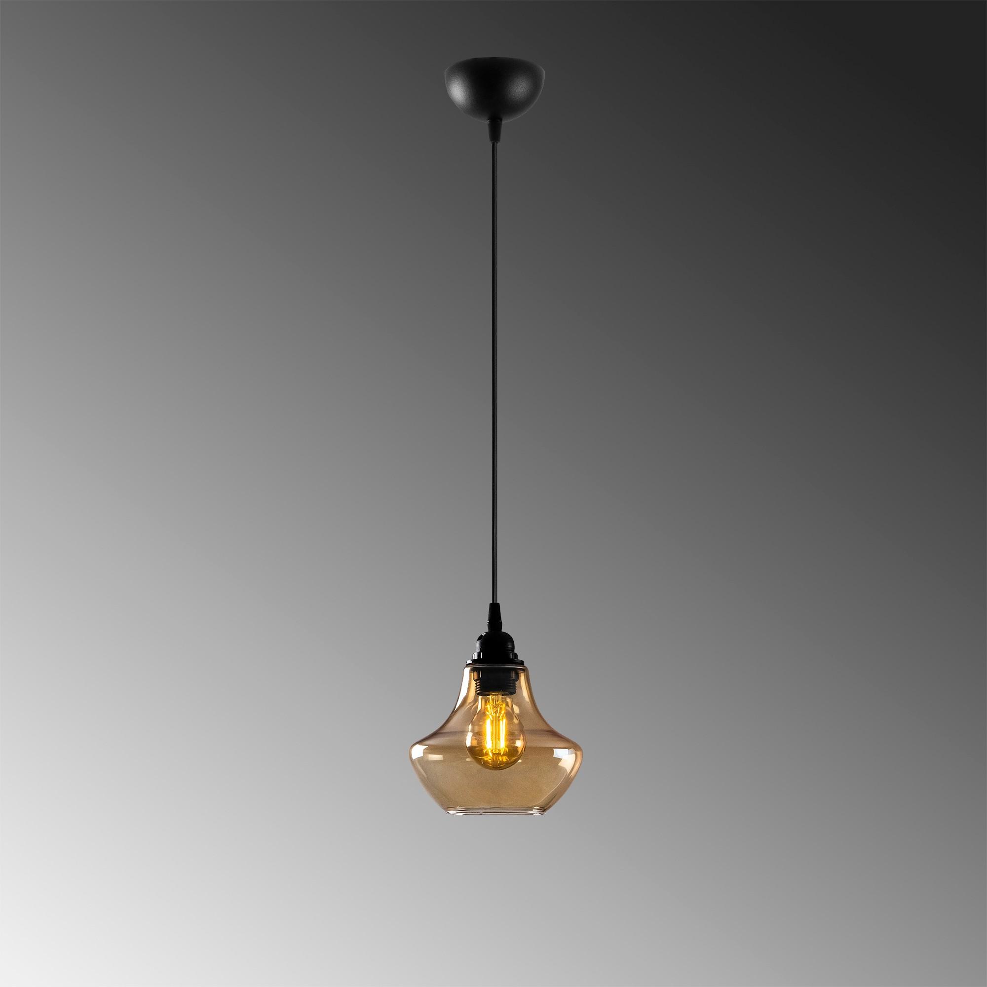 gouden hanglamp e27 fitting-Moroni -grijze achtergrond