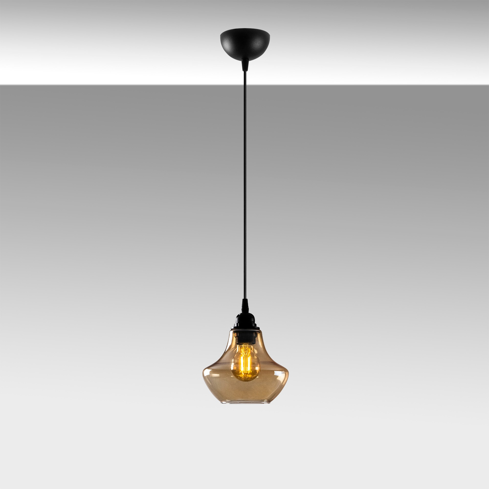 gouden hanglamp e27 fitting-Moroni - sfeerfoto