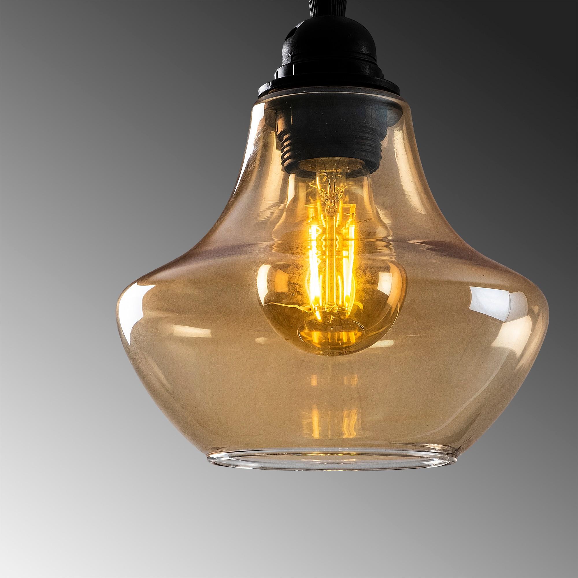 gouden hanglamp e27 fitting-Moroni - closeup