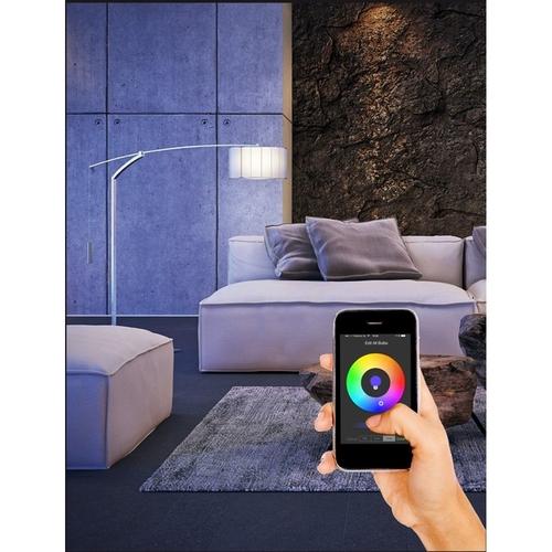 LED Smart lamp werkend met bluetooth grote fitting E27 RGBW - sfeerfoto