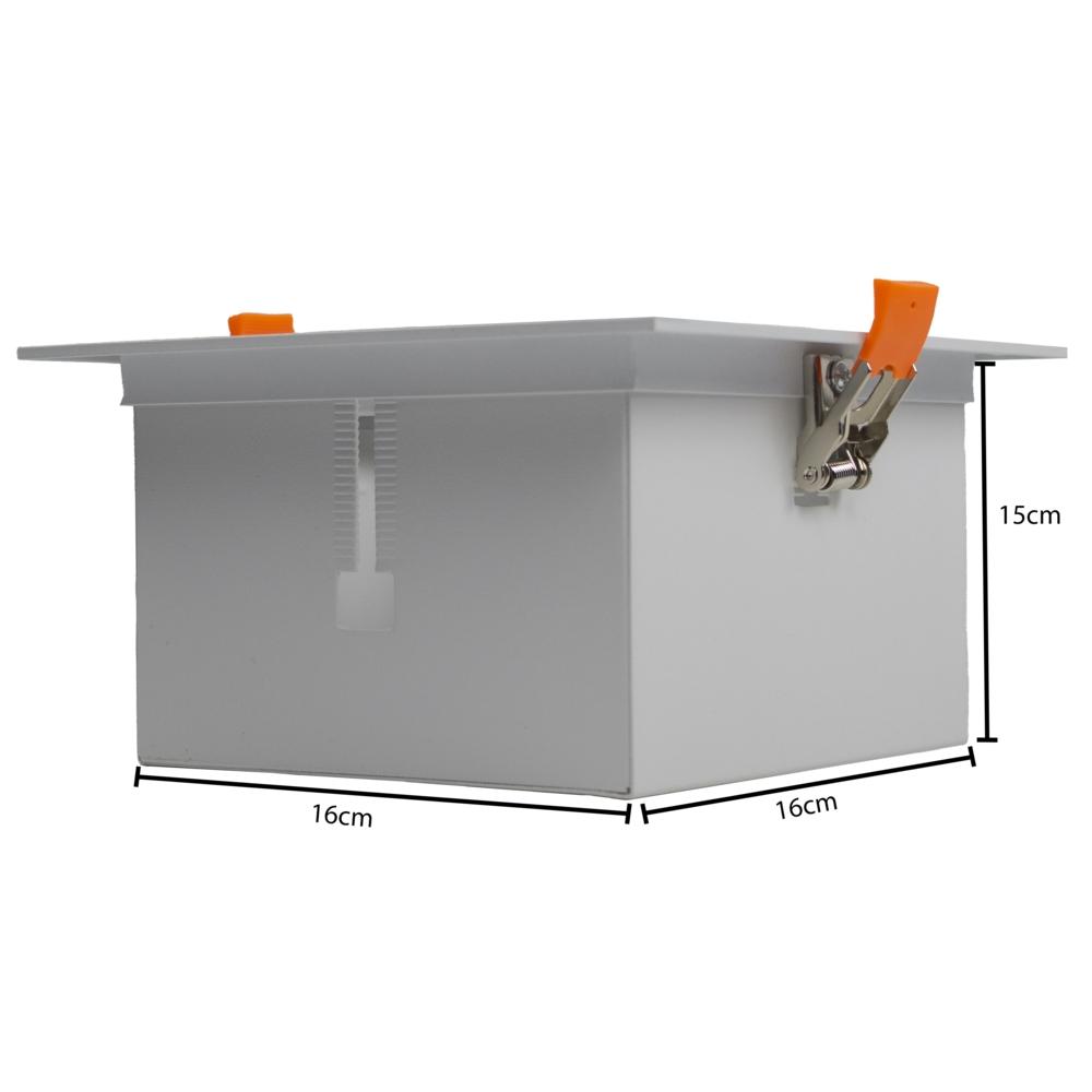 AR111 Spot armatuur LED - inbouw - dimbaar - kantelbaar - WIT - enkel - afmetingen