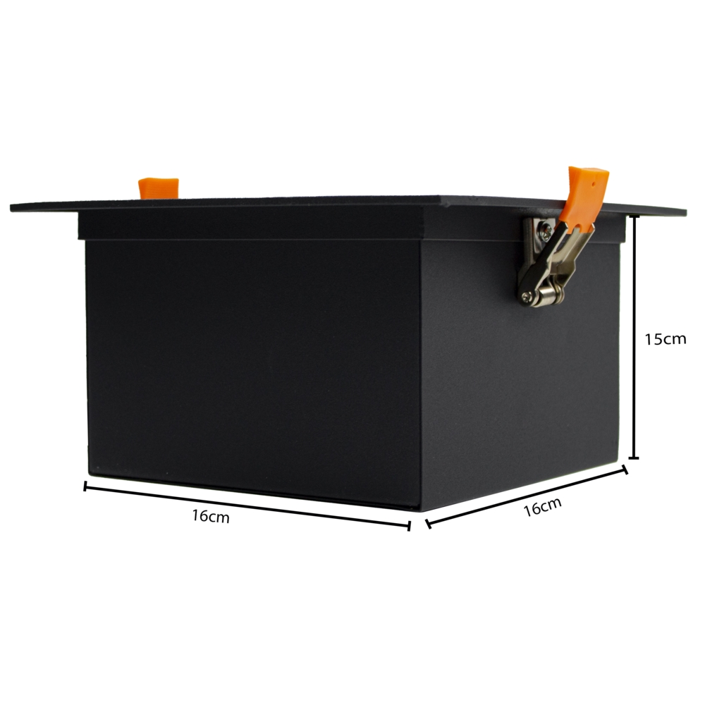 AR111 Spot armatuur LED - inbouw - dimbaar - kantelbaar - zwart - enkel