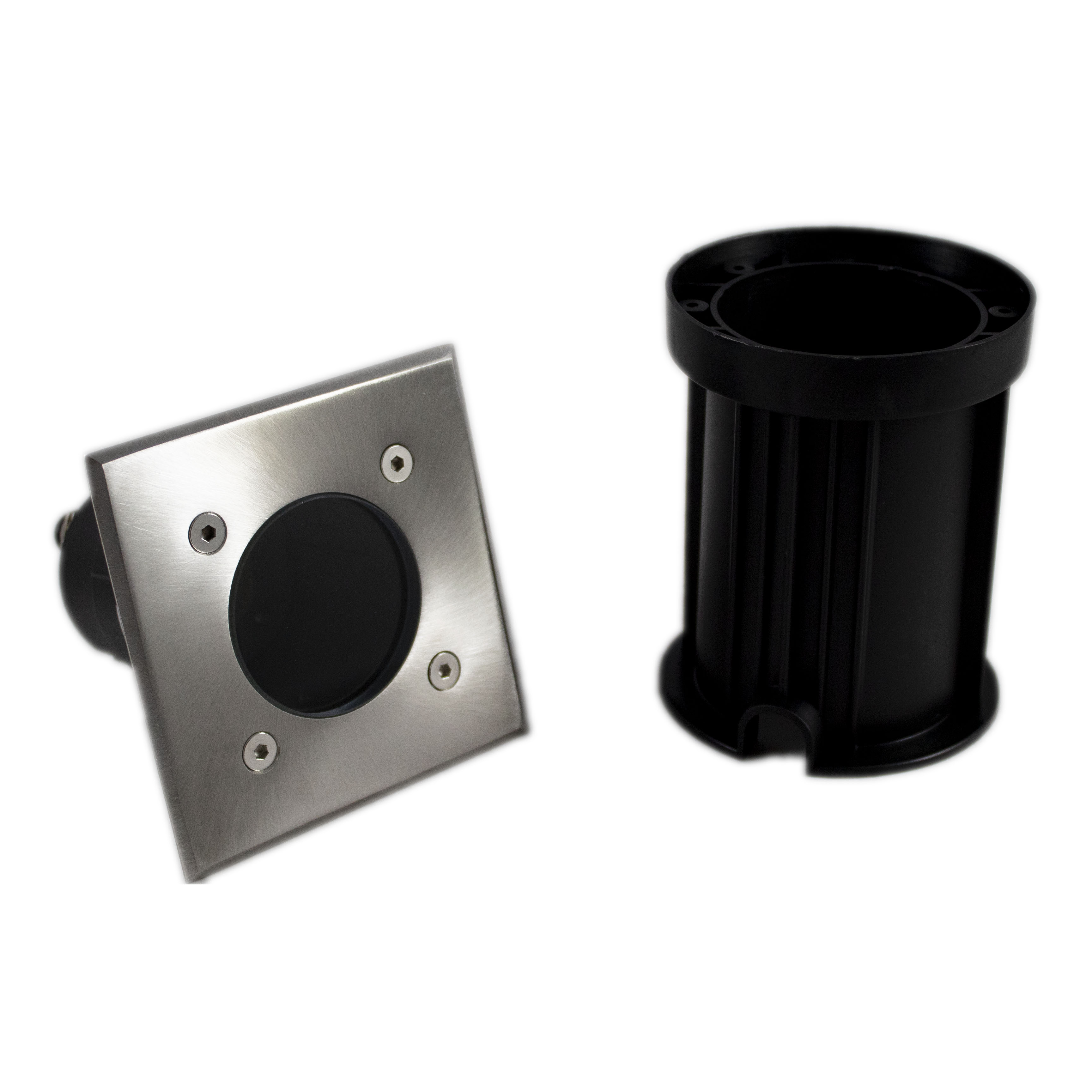 Led grondspot vierkant IP67 1 keer GU10 fitting - onderdelen grondspot