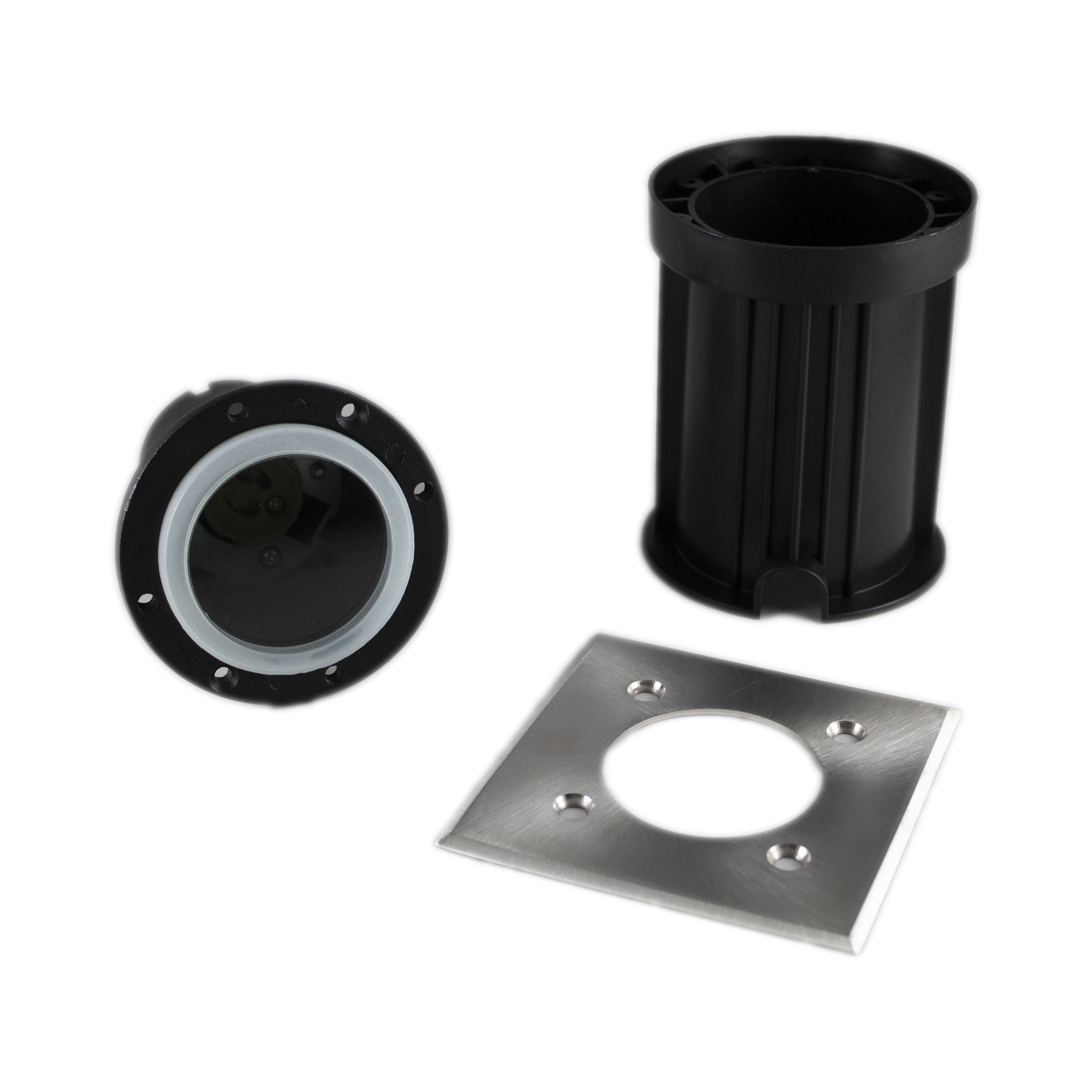 Led grondspot vierkant IP67 1 keer GU10 fitting - onderdelen waterdichte grondspot