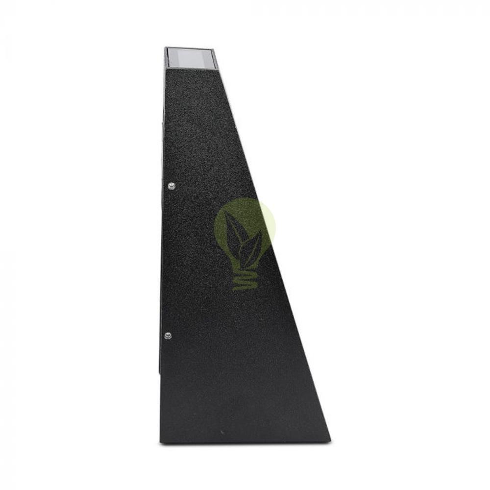 LED buiten wandlamp driehoek zwart up & down 6 Watt - 3000K - IP65 - Zwart - zijkant