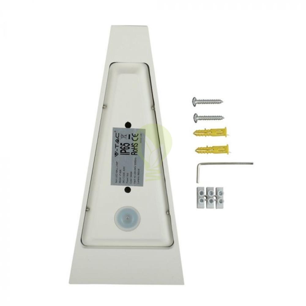 LED buiten wandlamp driehoek zwart up & down 6 Watt - 3000K - IP65 - Wit - achterkant