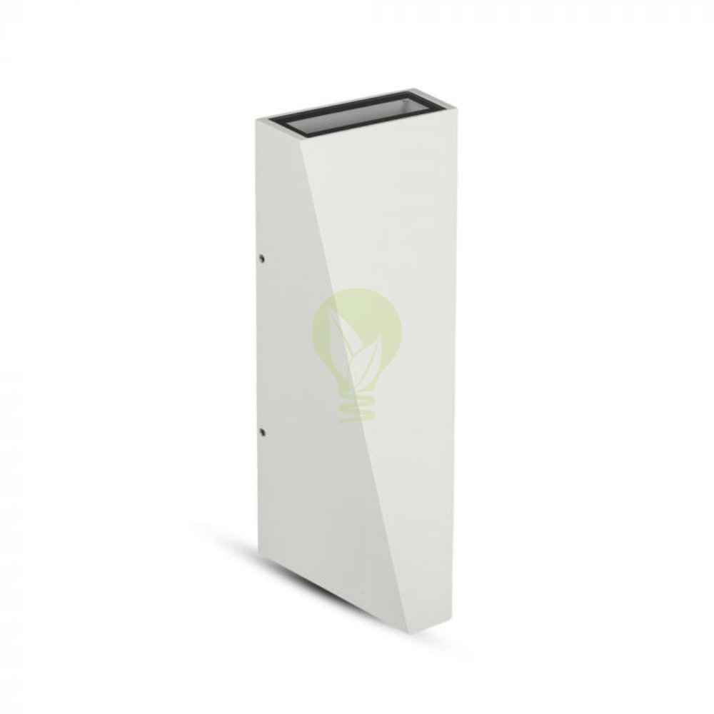 LED buiten wandlamp driehoek zwart up & down 6 Watt - 3000K - IP65 - Wit