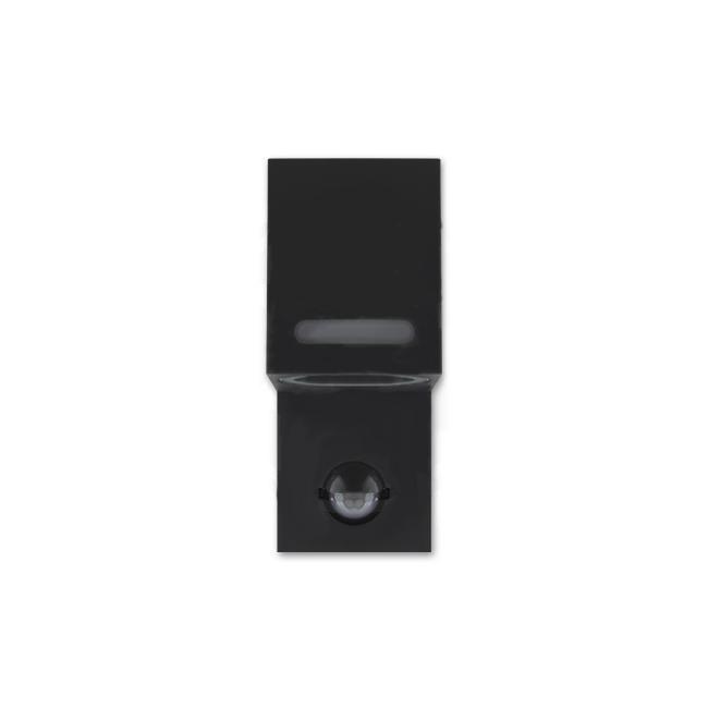 LED Wandlamp vierkant met gu10 fitting zwart met sensor - voorkant