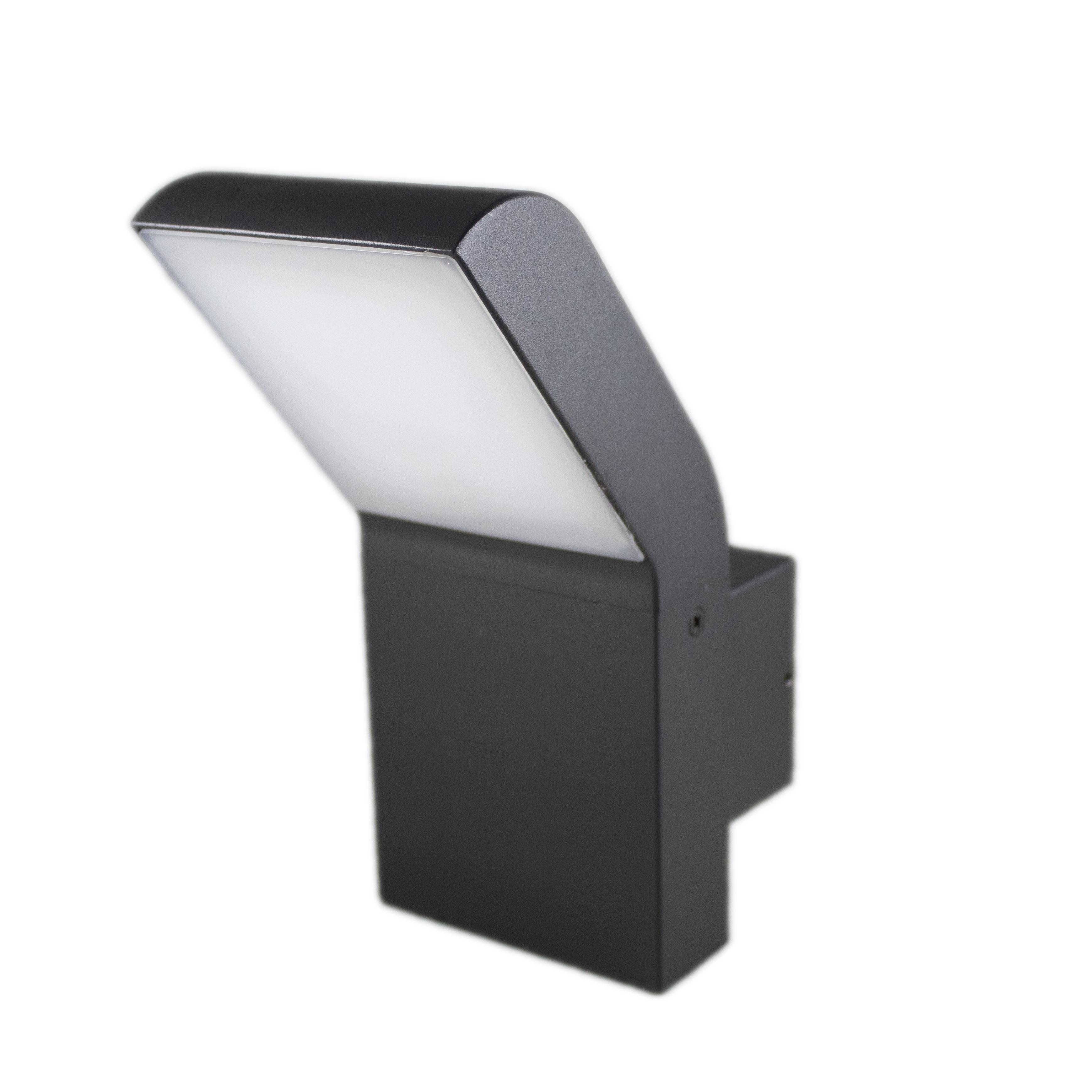 Wandlamp buiten 12 watt 4000K - naturel wit - zijaanzicht rechts
