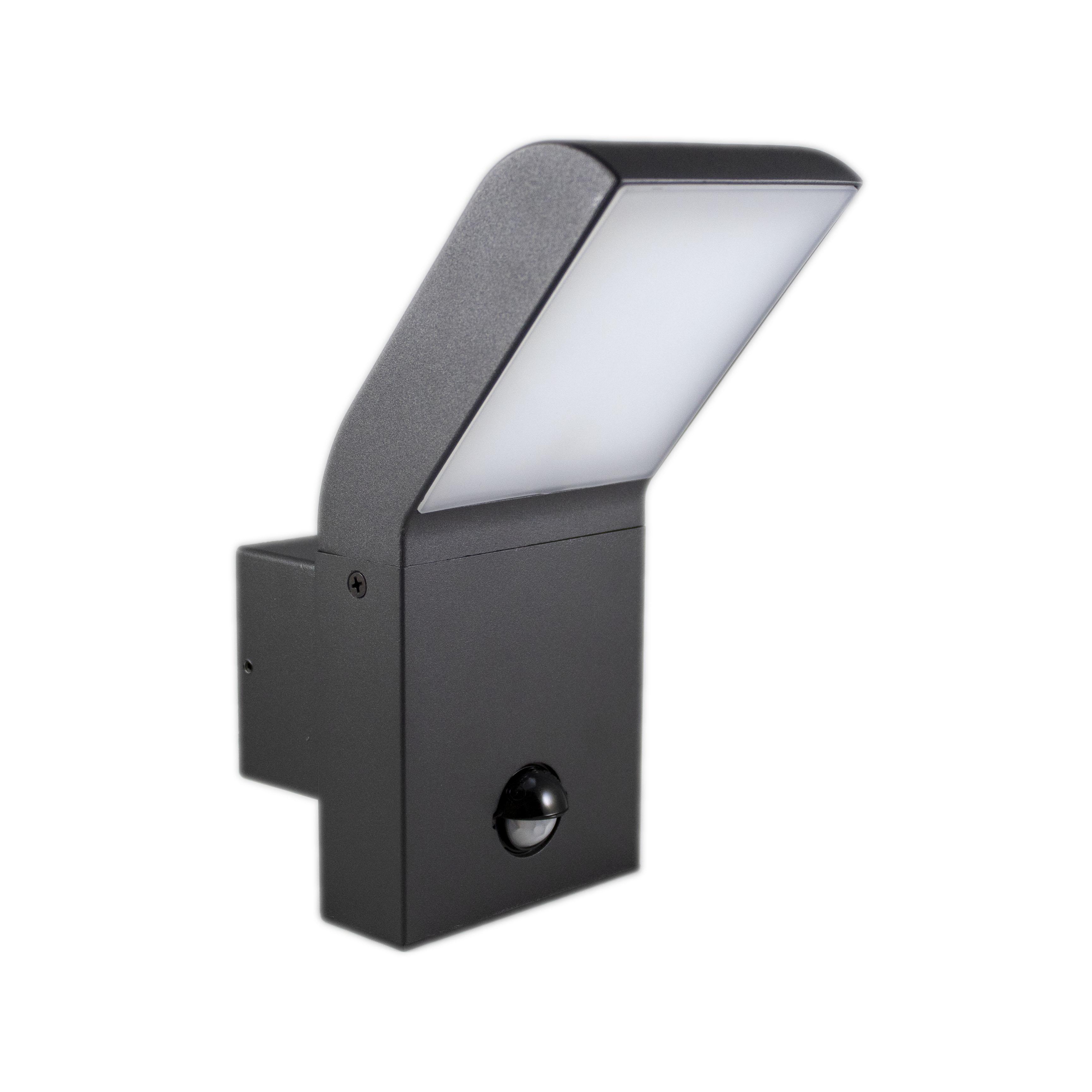 Wandlamp buiten met sensor 12 watt 4000K - naturel wit - zijaanzicht