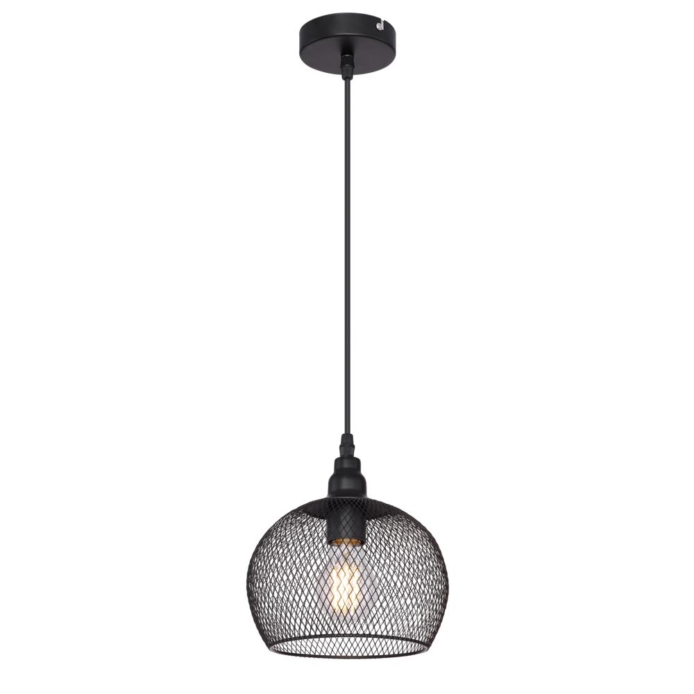 LED moderne hanglamp E27 fitting - vooraanzicht lamp aan