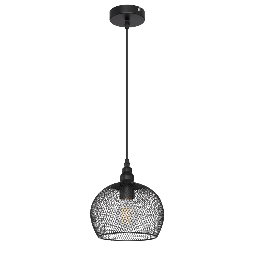 LED moderne hanglamp E27 fitting - vooraanzicht lamp uit