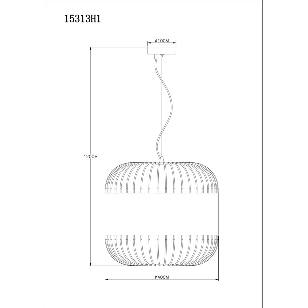 Hanglamp modern leer E27 fitting hanglamp - afmetingen