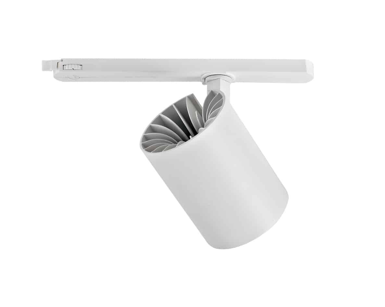 Dimbare 3-fase railspot 40 watt - dimbaar - kantelbaar - warm wit + naturel wit - reflector - achterkant