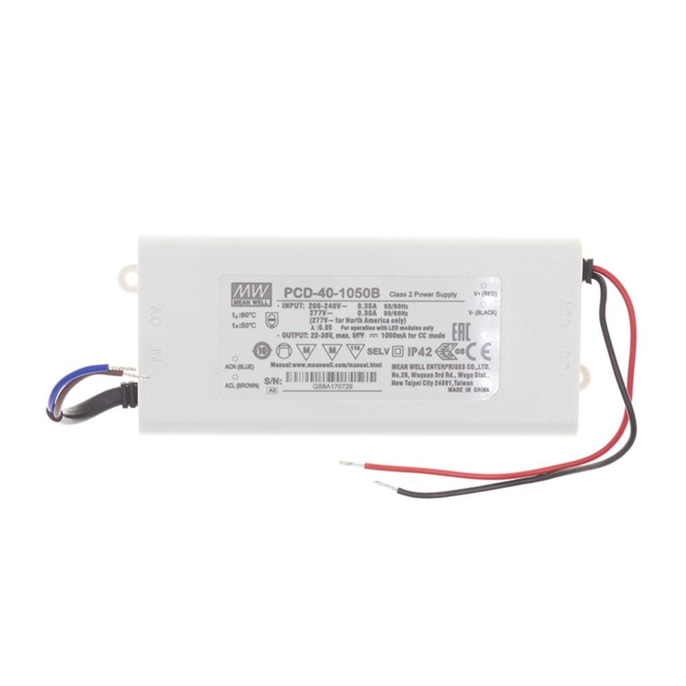 Dimbare MEANWELL driver - 40 watt- TRIAC - 1050mA