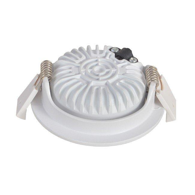 Dimbare inbouw spot wit - rond - 5W - achterkant