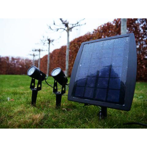 Solar grondspot met spies - tuin