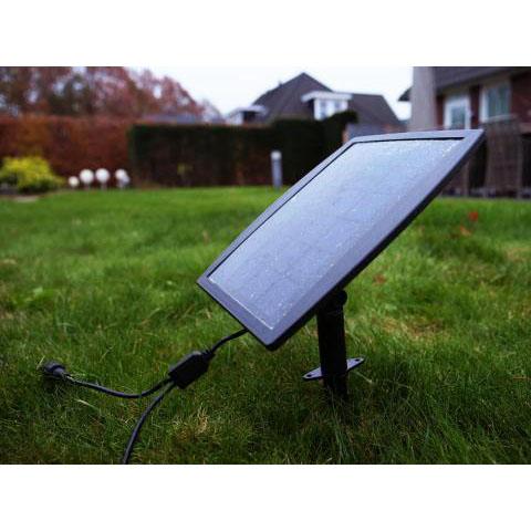 Solar grondspot met spies - zijkant solarscherm