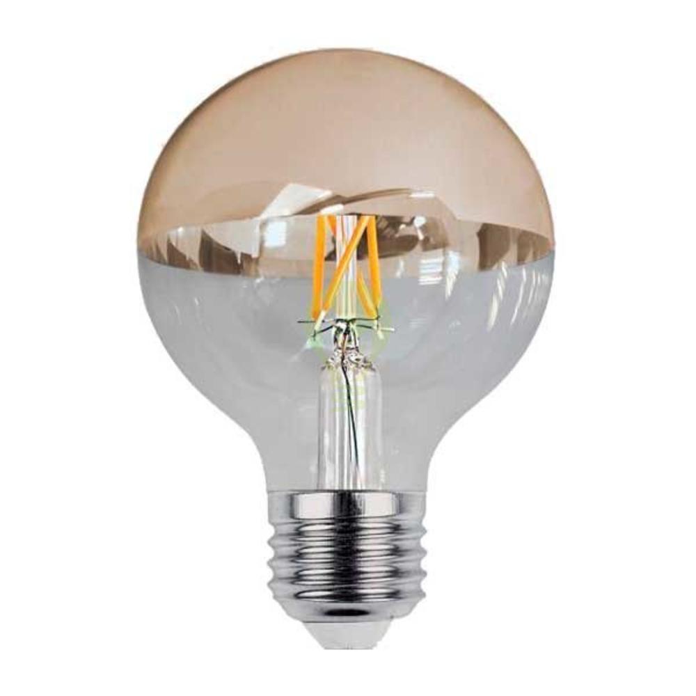 LED Globe lamp G95 half goud 7 Watt kopspiegel 2700K Warm wit