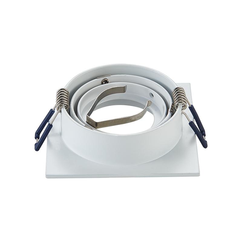 inbouw spot armatuur - Vierkant - Wit- zaagmaat 80 mm - achterzijde