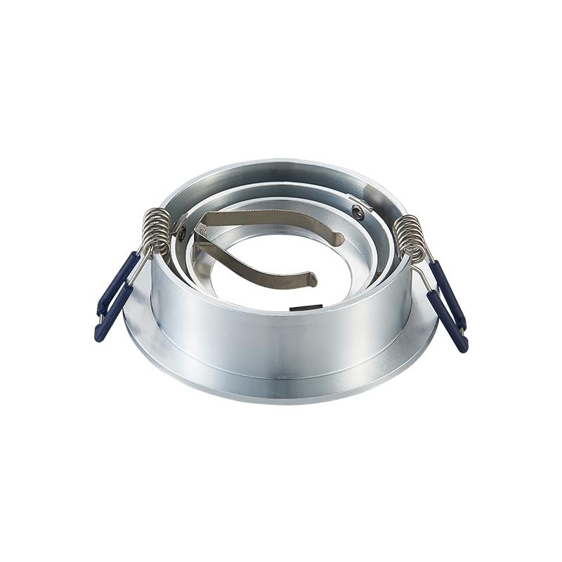 inbouw spot armatuur - Zilver - Zaagmaat 80 mm - kantelbaar - achterkant- rond