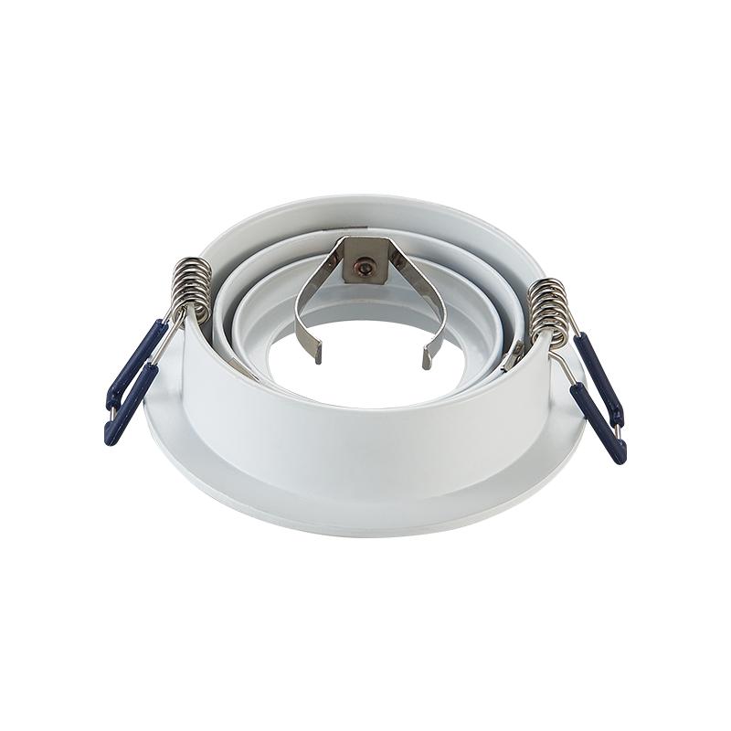 inbouw Spot armatuur - Wit - Zaagmaat 80 mm - GU10 - kantelbaar - achterkant- rond