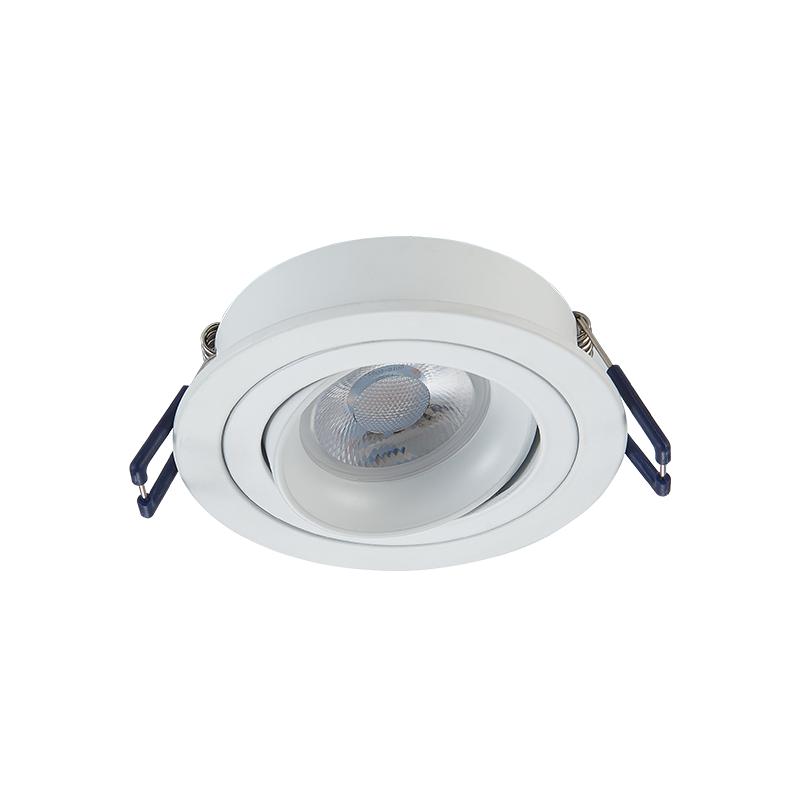 inbouw Spot armatuur - Wit - GU10 - Kantelbaar - zaagmaat 80 mm- rond - voorzijde