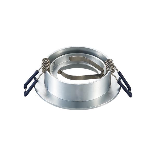 inbouw Spot armatuur - GU10 - Kantelbaar - Zilver- achterkant- rond