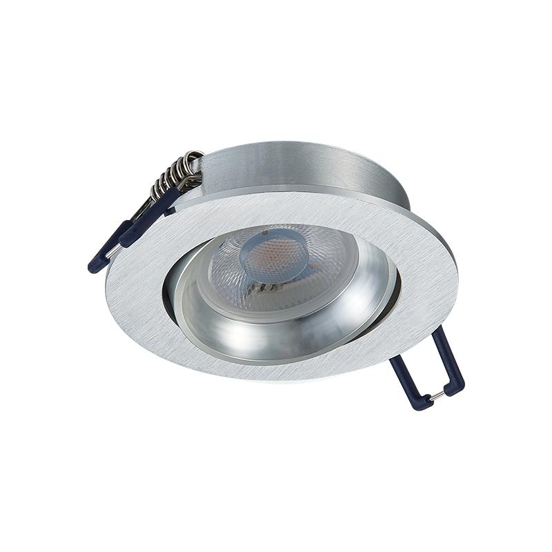 inbouw Spot armatuur - GU10 - Kantelbaar - Zilver - zaagmaat 70 mm- rond