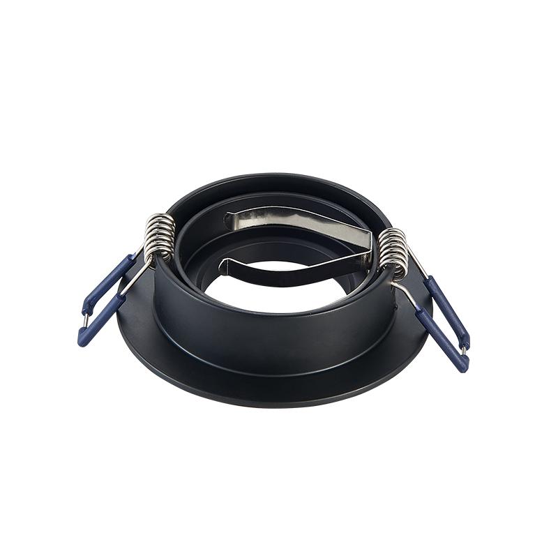 inbouwspot armatuur - rond - zwart - zaagmaat 70 mm - kantelbaar - achterkant