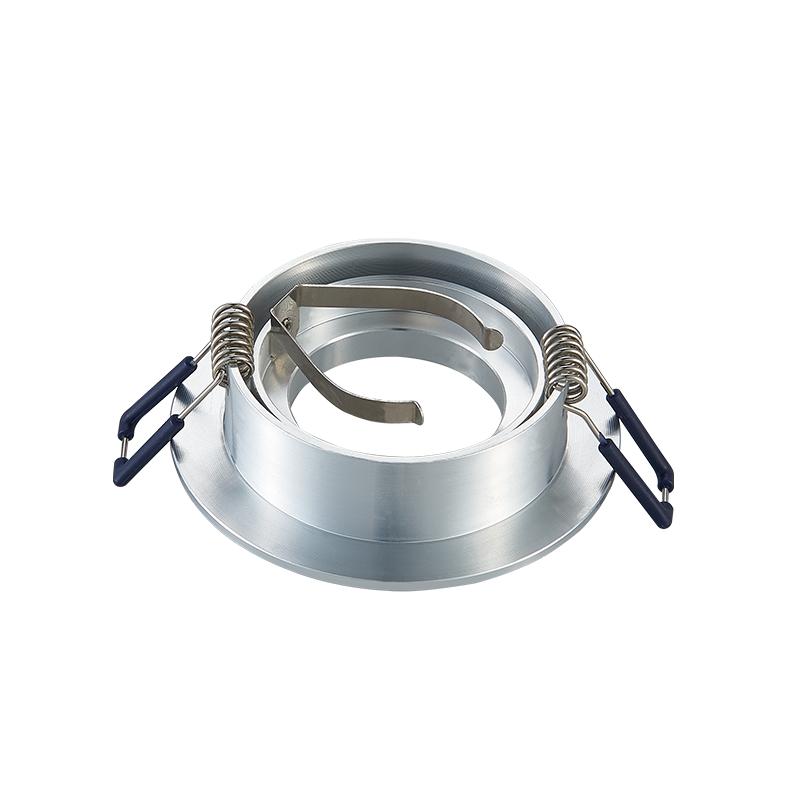 inbouwspot armatuur - rond - zilver - kantelbaar - zaagmaat 69 mm - achterkant