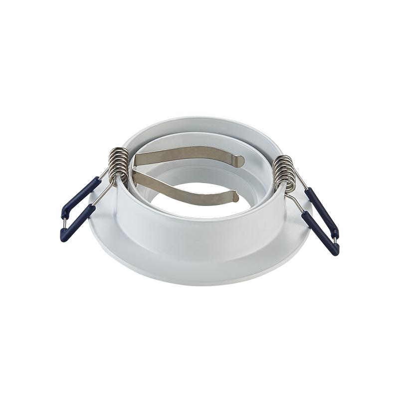 inbouwspot armatuur - Wit - rond - zaagmaat 69 mm - kantelbaar - achterkant