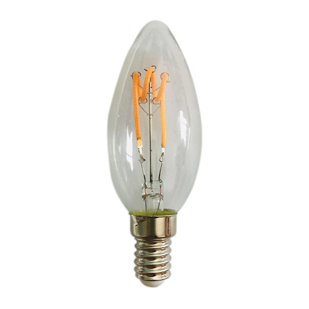 Filament Spiraal kaarslamp - helder glas - 4 watt - dimbaar - 2200K extra warm wit - filament