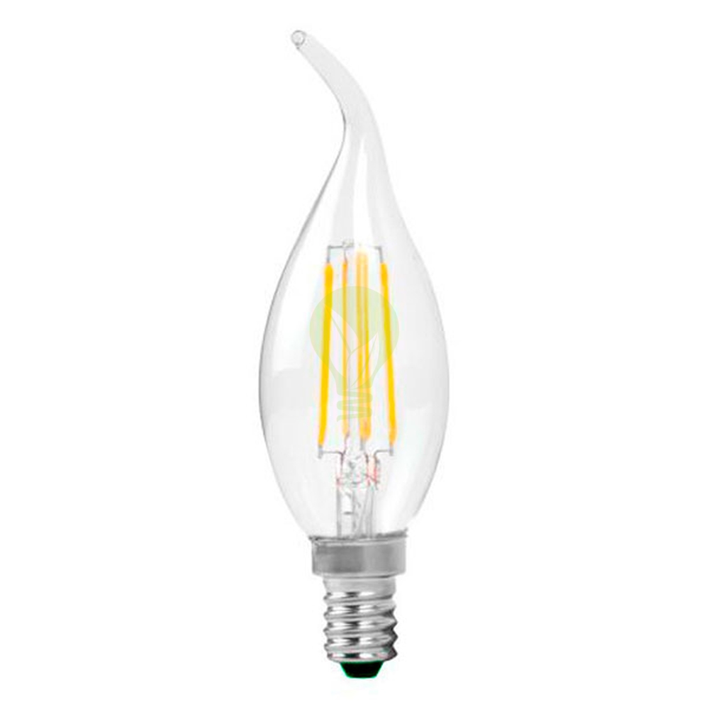 Filament kaarslamp met tip e14 kleine fitting C35T 2700K Warm wit - lamp