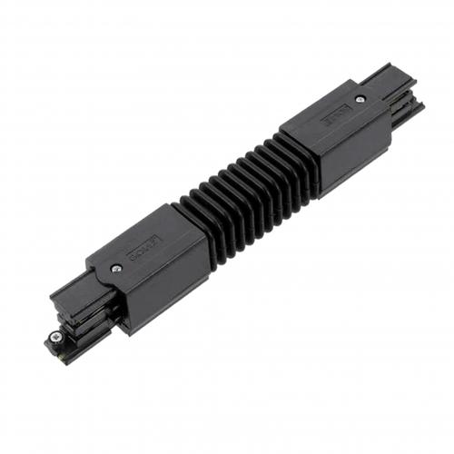 Zwarte flexibele hoek connector 3-fase rails