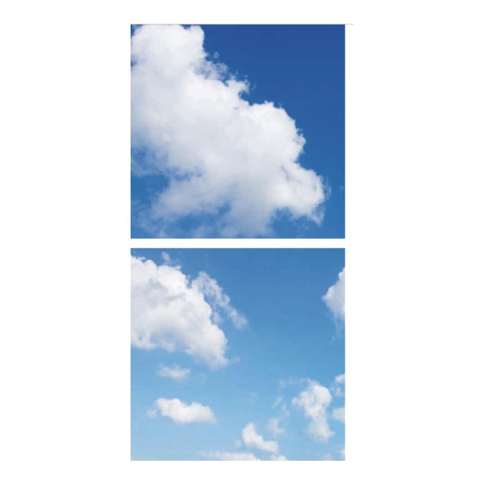 Fotoprint- Wolken- verdeeld over 2 panelen