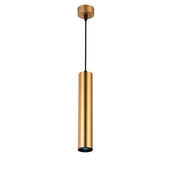 Hanglamp goud GU10 fitting langwerpig 30 centimeter - vooraanzicht hanglamp