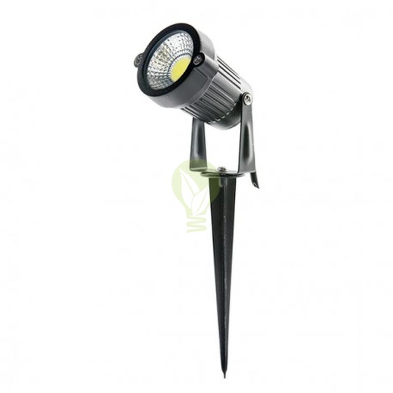 LED Grond en tuin spot met spies 5 watt - warm wit