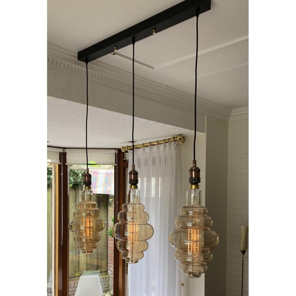 Sfeerfoto zelf samengesteld hanglamp E27 fittingen