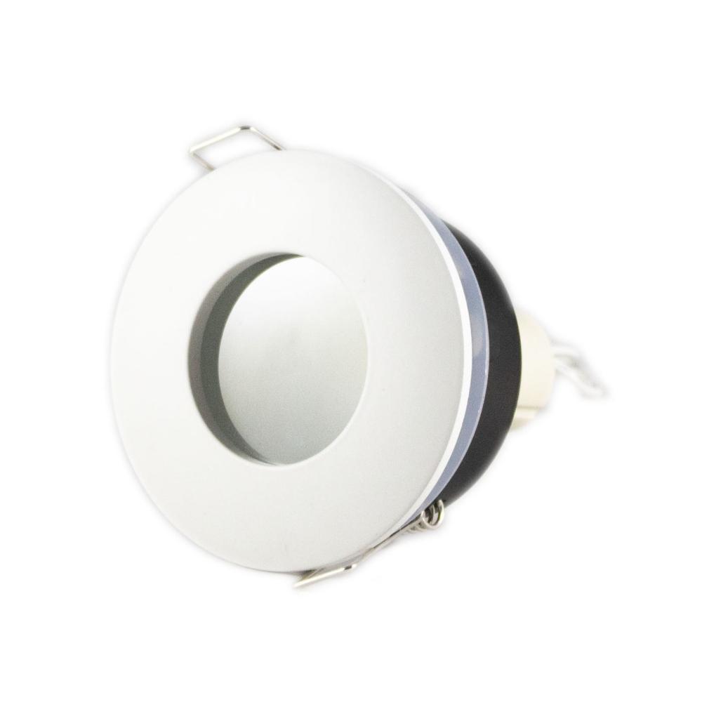 LED aluminium Inbouwspot wit | rond | 5,5W | IP44 | Dimbaar | 4000K - Naturel Wit Voor schuin