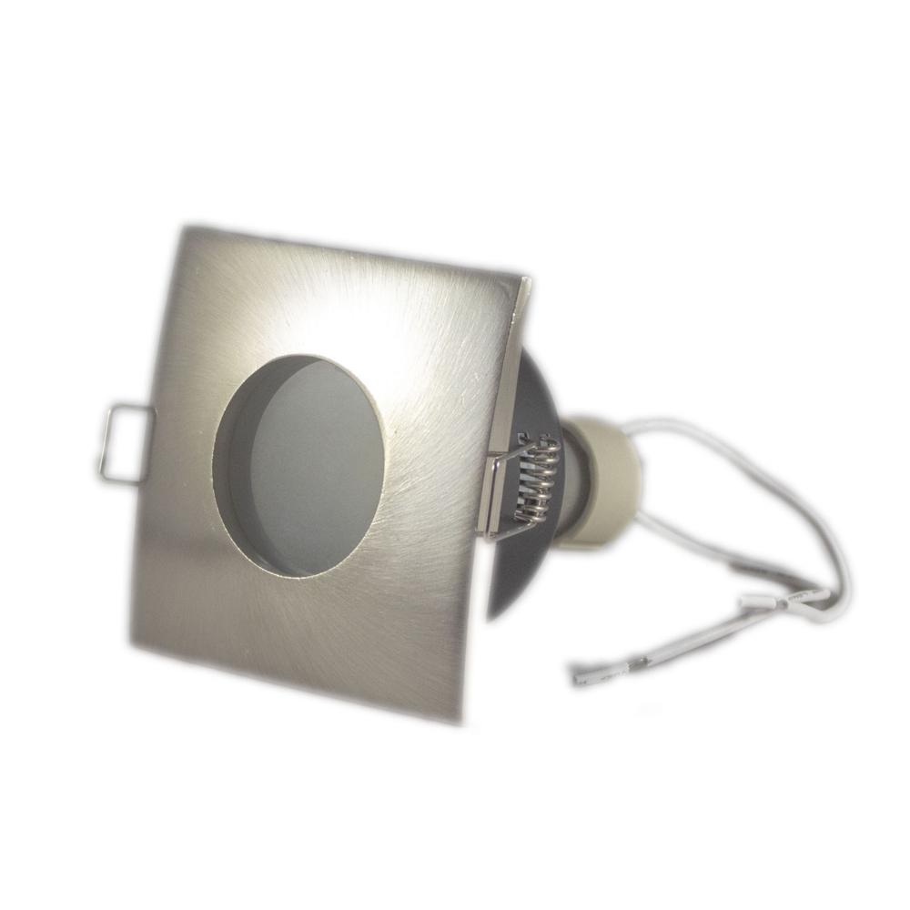 LED aluminium Inbouwspot zilver | vierkant | 5,5W | IP44 | Dimbaar | 4000K - Naturel Wit Zijaanzicht 2