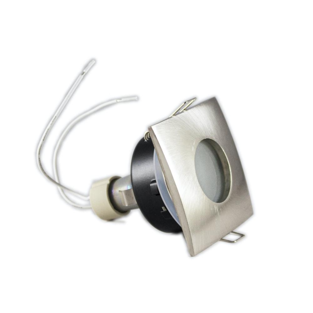 LED aluminium Inbouwspot zilver | vierkant | 5,5W | IP44 | Dimbaar | 4000K - Naturel Wit Zijaanzicht