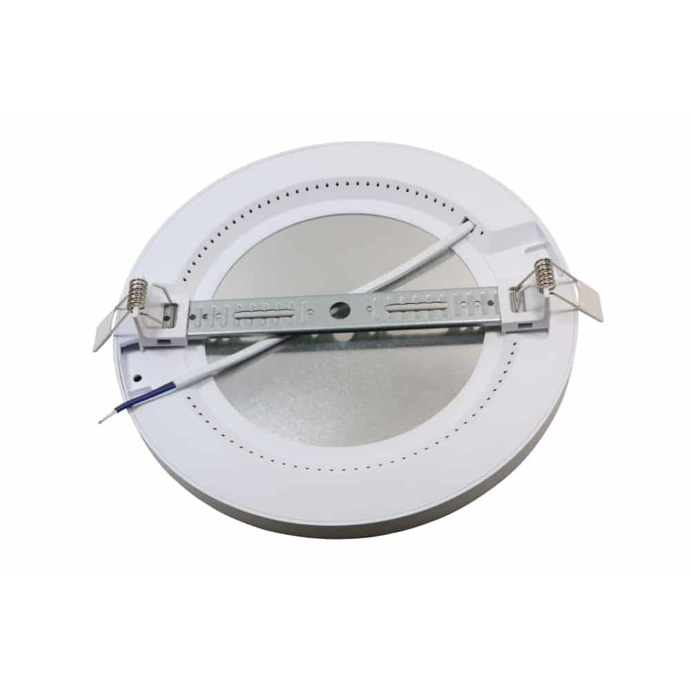 Inbouw en opbouw downlight 15 watt - lichtkleur instelbaar - CCT - ronde plafondlamp - achterkant met inbouwklem
