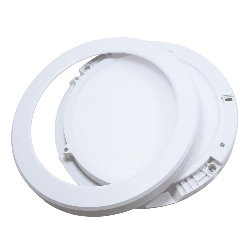 Inbouw en opbouw downlight 15 watt - lichtkleur instelbaar - CCT - ronde plafondlamp - verwijderbare ring