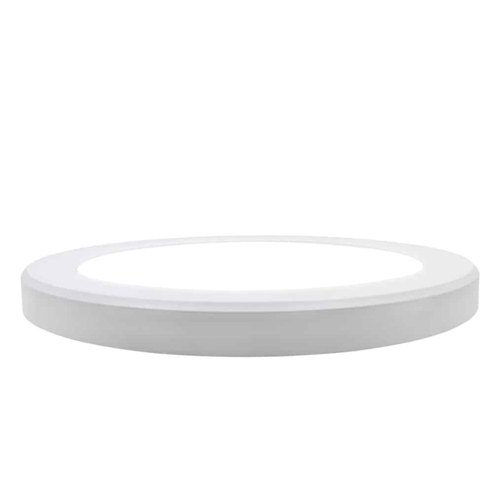 Inbouw en opbouw downlight 15 watt - lichtkleur instelbaar - CCT - ronde plafondlamp - zijaanzicht