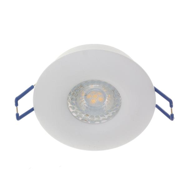 Inbouw spot 68mm - rond - wit - niet kantelbaar - armatuur - GU10 fitting