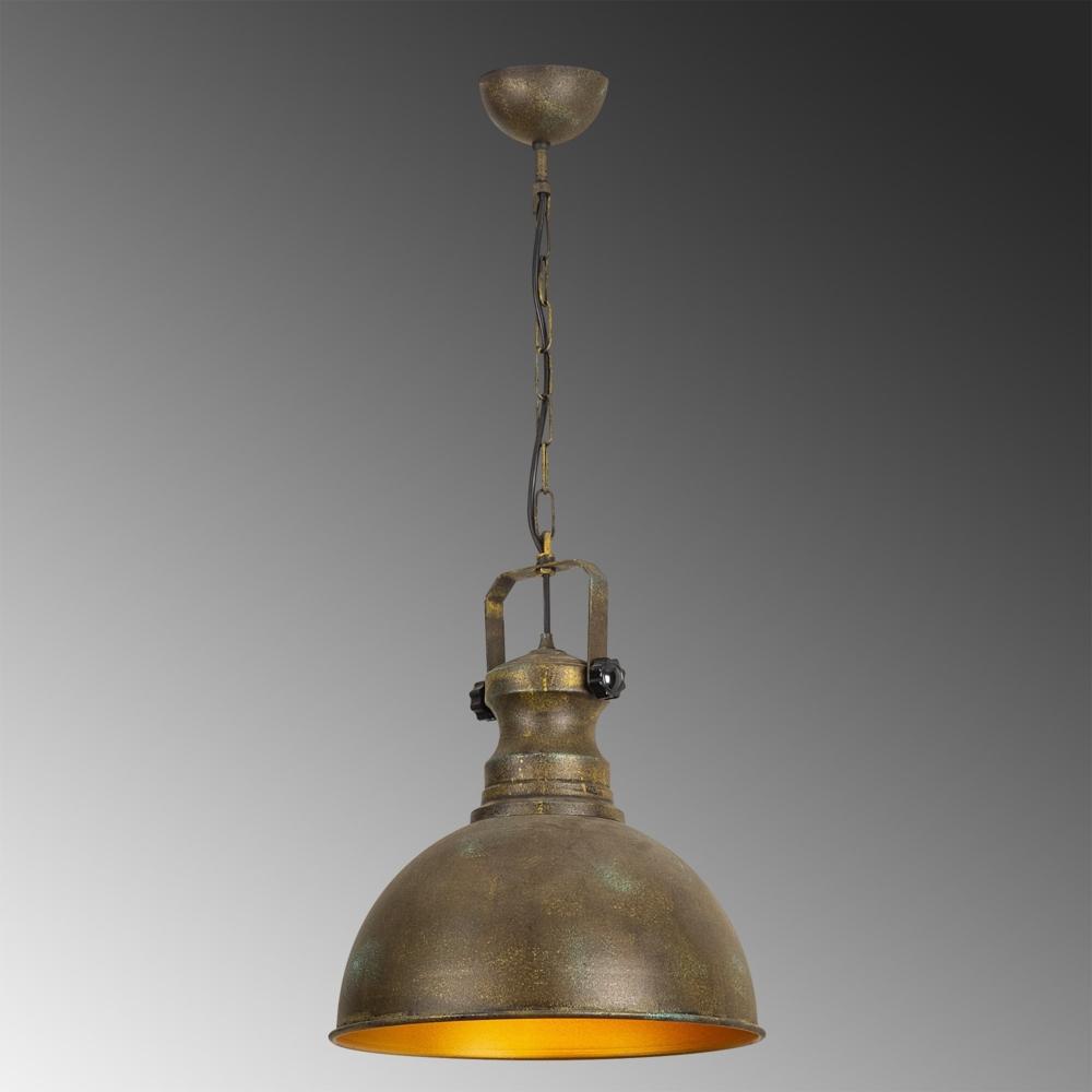 Industriële vintage hanglamp - koper met goud 40 cm - Montero - sfeer
