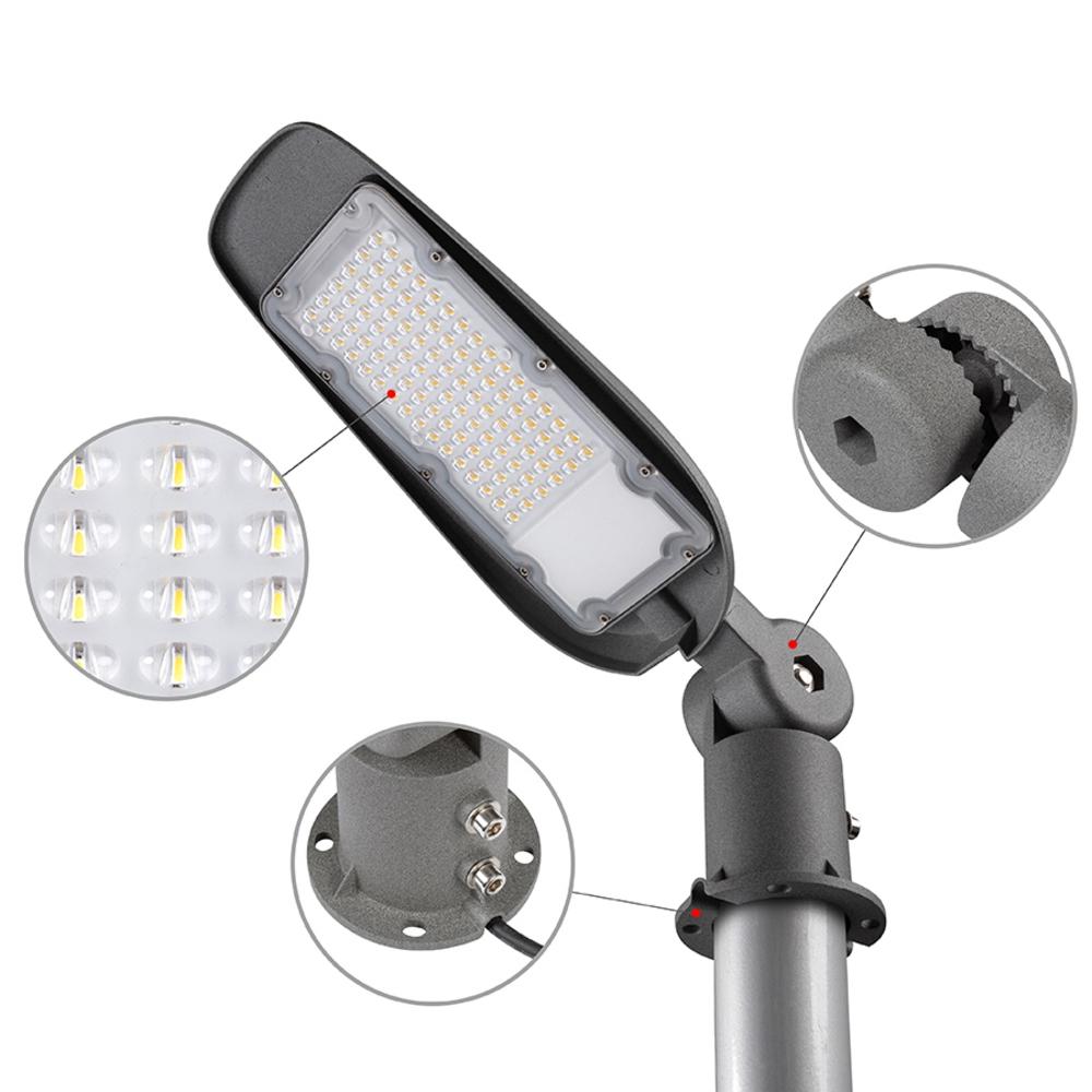 Kantelbare LED straatlantaren - muur montage 60mm