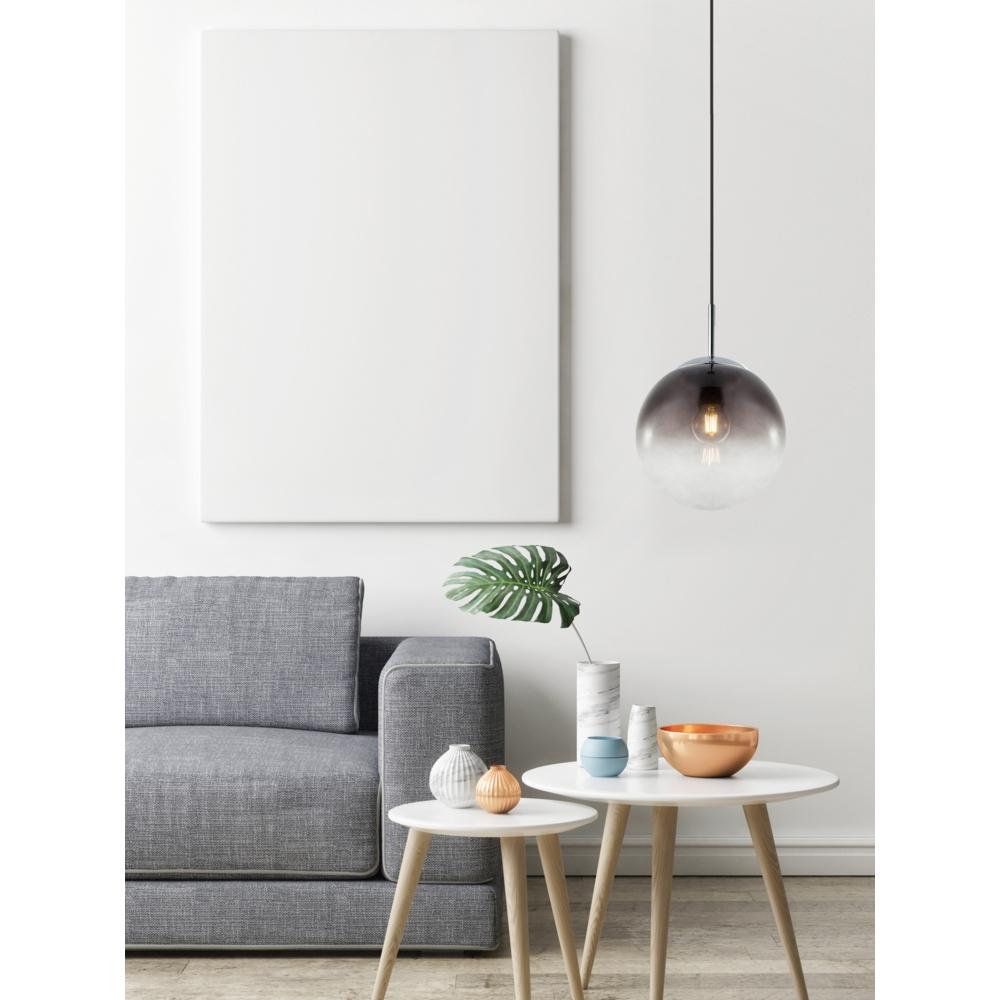 LED hanglamp E27 smoke glas KIngston - in hoogte instelbaar -sfeerfioto
