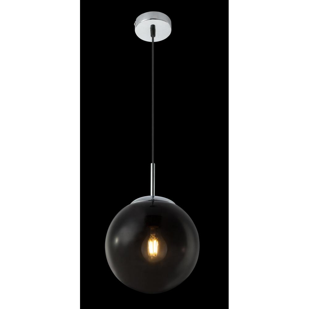 LED hanglamp E27 smoke glas KIngston - in hoogte instelbaar -donkere achtergrond
